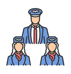 Aircrew color icon vector