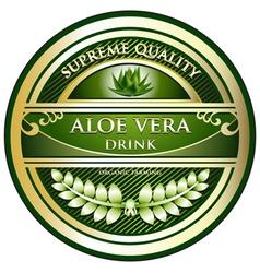 Aloe vera drink label vector