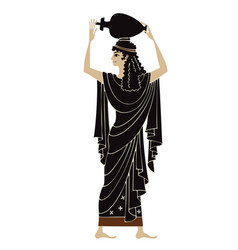 ancient greek paintingpottery art vector image