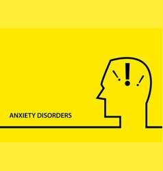 anxiety disorder symbol vector image