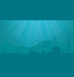 Background - underwater ocean scene vector