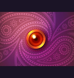 Beautiful glowing diwali background vector