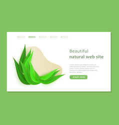 beautiful landing page with shape and bio design vector image