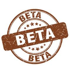 Beta brown grunge stamp vector