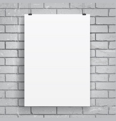 Blank paper poster vector