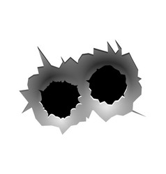 Bullet circle hole realistic bullets traces in vector