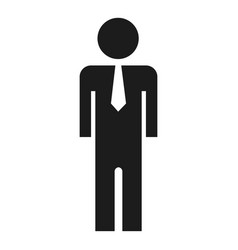 businessman icon simple style vector image