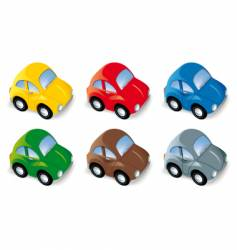 car set in six different colors vector image