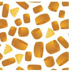 Cheese seamless pattern yellow food backround vector