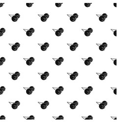 Chokeberry or aronia berry pattern vector