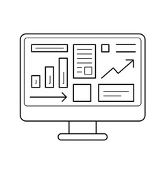 computer system line icon vector image