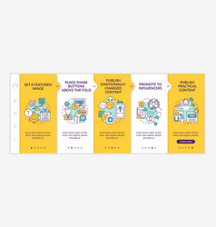 create magnetic content tips onboarding template vector image