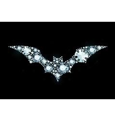 Diamond Bat vector image