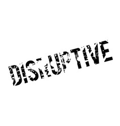 Disruptive rubber stamp vector