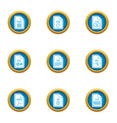 Expansion icons set flat style vector