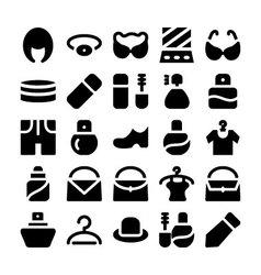 Fashion Icons 9 vector image