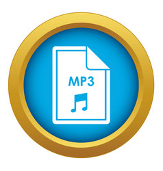 File mp3 icon blue isolated vector