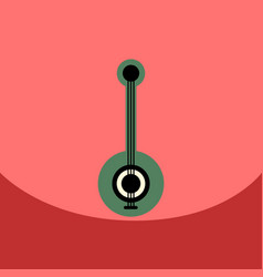 Flat icon design collection musical instrument vector