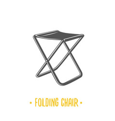 folding chair vector image vector image