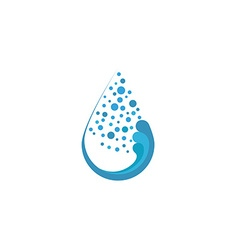 Fresh water drop and bubble mockup eco logo or vector image
