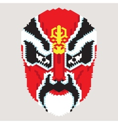 Geometric chinese mask vector
