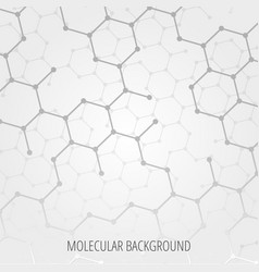 geometric medicine molecule molecular background vector image