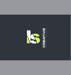 green letter ls l s combination logo icon company vector image
