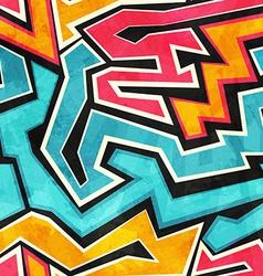 grunge graffiti seamless texture vector image