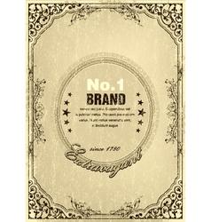 grunge vintage label vector image