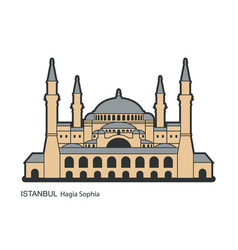 Hagia sophia in istanbul turkey vector