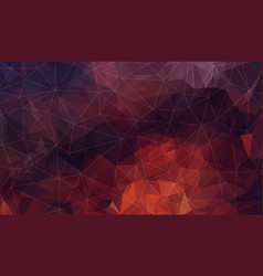Horizontal dark red polygonal background vector