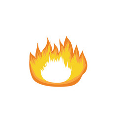 icon hot fire flame campfire and bonfire element vector image