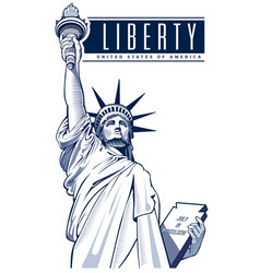 Independence day statue of liberty usa nyc vector