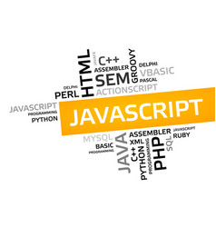 Javascript word cloud tag cloud graphic vector