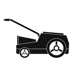 Lawn mower machine icon simple style vector