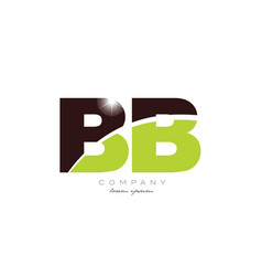 Letter bb b b alphabet combination in green and vector