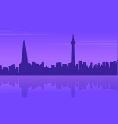 london city building landscape silhouettes style vector image
