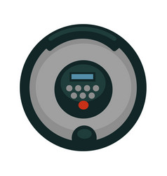 minimal robotic vacuum cleaner vector image