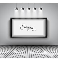 Modern interior art gallery frame design vector