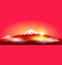 Mount fuji at sunrise vector