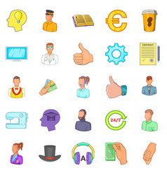 Offshore icons set cartoon style vector