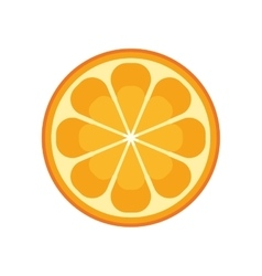 Orange citrus fruit isolated icon vector