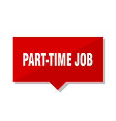 part-time job red tag vector image