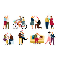 people in love set vector image