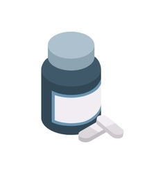 Pills in a bottle icon isometric 3d style vector image