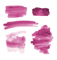 Pink watercolor shapes splotches stains paint vector