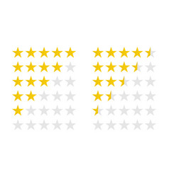 product ratings set with gold stars vector image