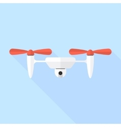 Quadcopter drone with camera vector