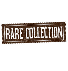 Rare collection sign or stamp vector