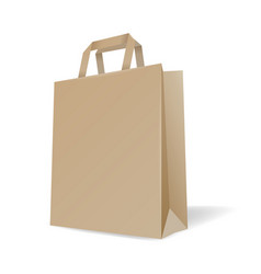 realistic paper bag vector image